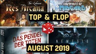 Top & Flop im Monat August 2019