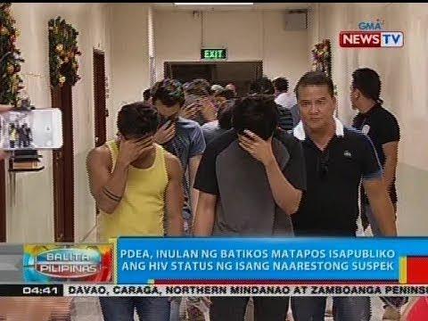 BP: PDEA, inulan ng batikos matapos isapubliko ang HIV status ng isang naarestong suspek