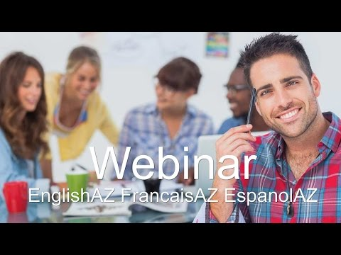 Welcome to the EnglishAZ webinar.