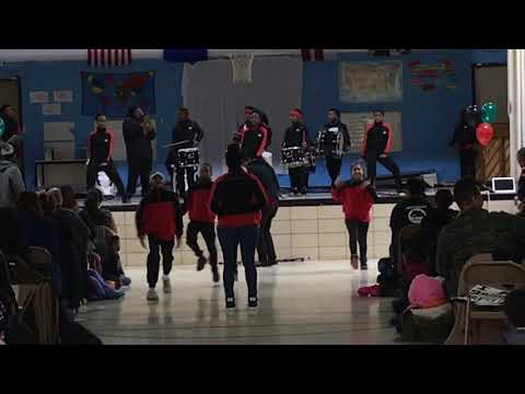 Malcolm X elementary school marching band