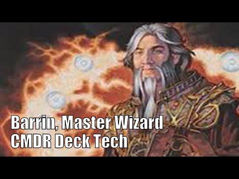 Aaron's Barrin, Master Wizard CMDR Deck [EDH / Commander / Magic the Gathering]