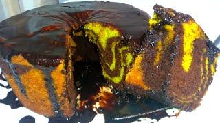 Bolo de Cenoura Mesclado Com Chocolate Uma Delícia e Fácil de Fazer