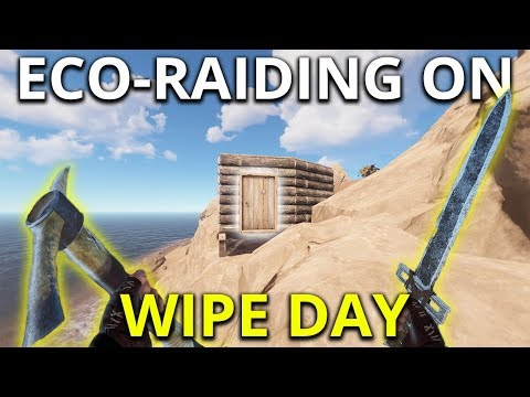 SWORD ECO RAIDING ON WIPE DAY - Rust Solo Survival Gameplay