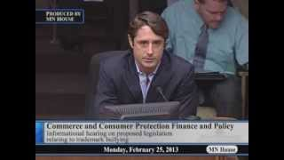 House Commerce and Consumer Protection Finance and Policy Committee  2/25/13