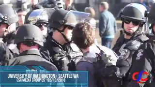 AntiFa Attack Patriot Trying To Get Into Patriot Rally At University Of Washington Event