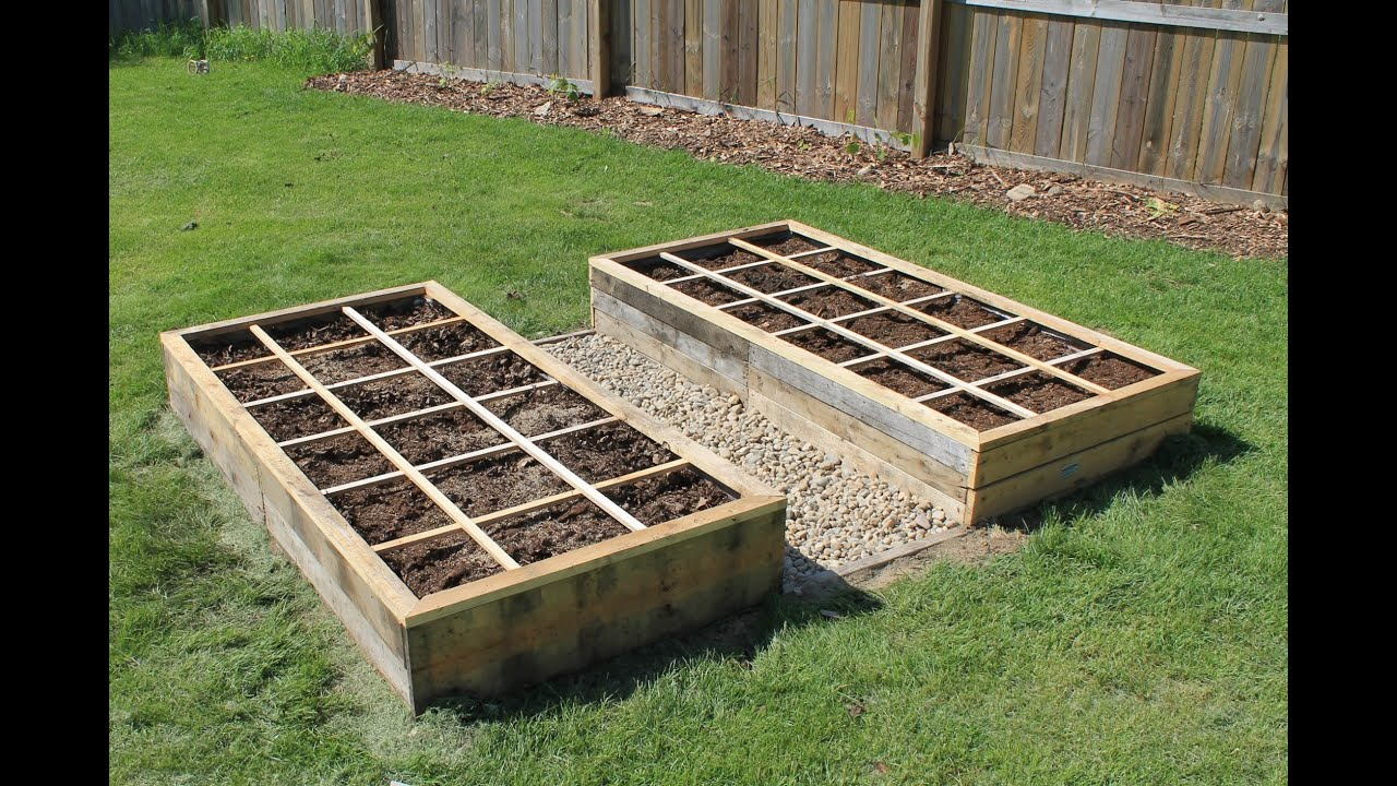 Creating a Raised Bed Garden Using Pallet Wood 100 Free YouTube – Raised Gardens Plans