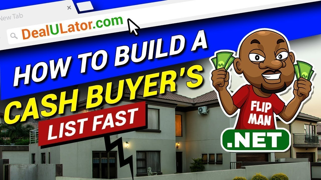 How to Build a Cash Buyers List Fast for Wholesaling Houses