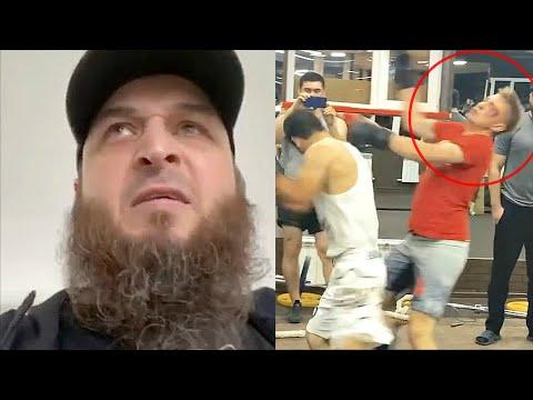Коваленко пробил в бою Чеченец! Святослав в Чечне после драки с Зелимханом.