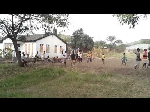Kids playing soccer (football) in Tanzania