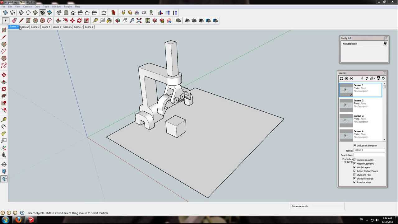 how to move objects in sketchup