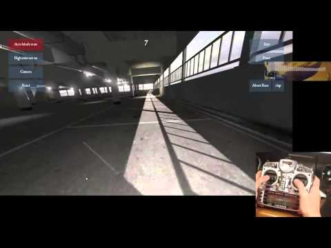 (full session) FPV Freerider - Carpark practice (250 mini quad simulator)