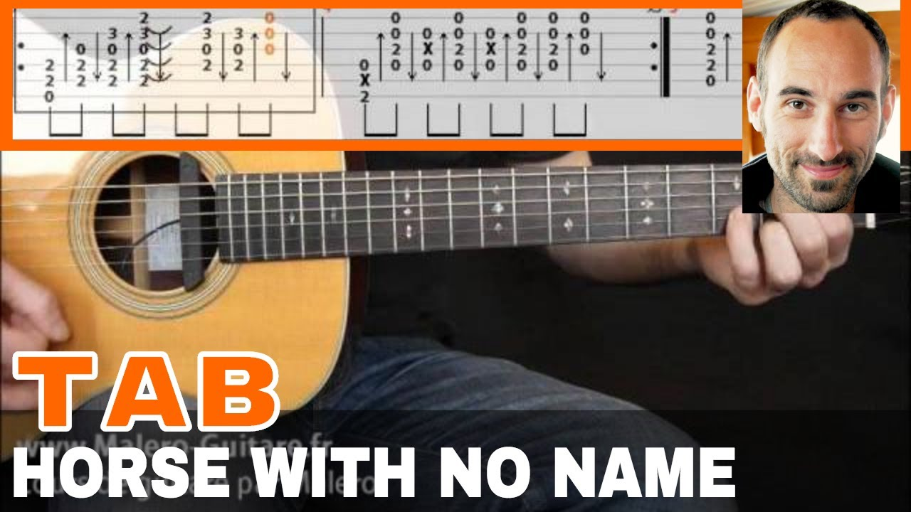 A Horse With No Name Guitar Tab Youtube