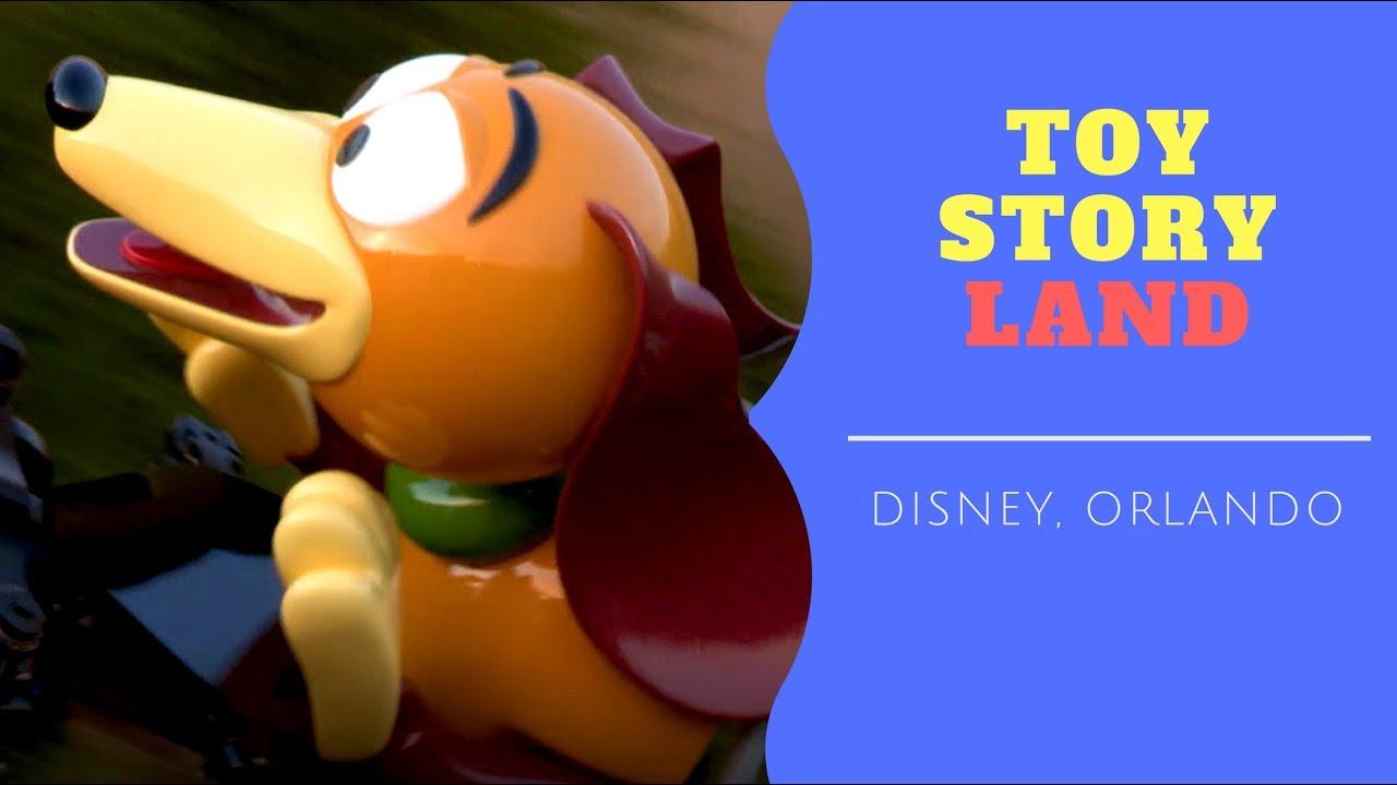 toy story land na disney uma volta com o cachorro de mola youtube