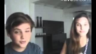 Macarena Achaga en Twitcam  con Santi [31/Diciembre /2013]