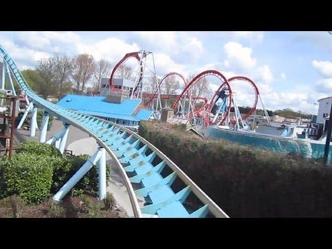 Shockwave Front Row on-ride HD POV Drayton Manor