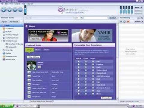 Adding Yahoo Music Songs to Your Sansa MP3 Player