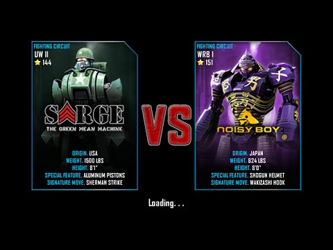 Real Steel WRB FreeSparring | Sarge VS NoisyBoy |