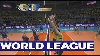 Touch or no fault? Challenge on a huge spike Brazil v France