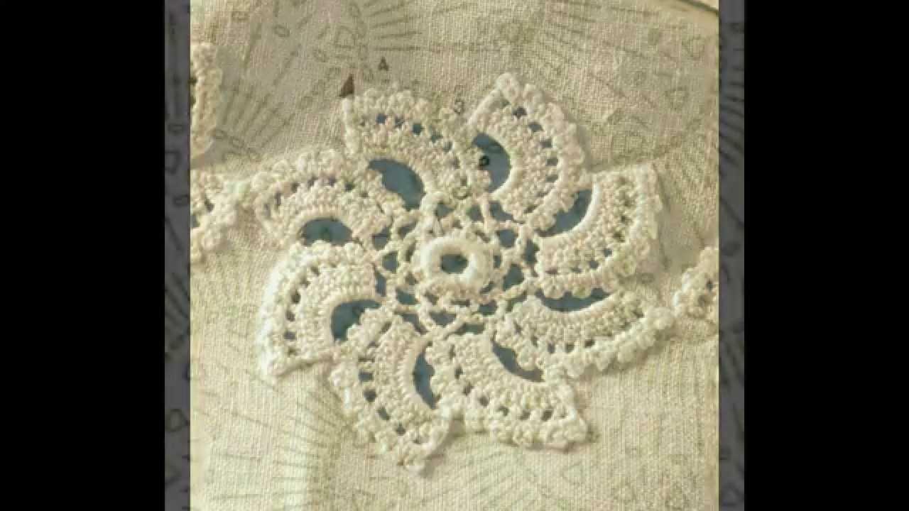 Patrón Para Mantel Con girándulas a Crochet - YouTube