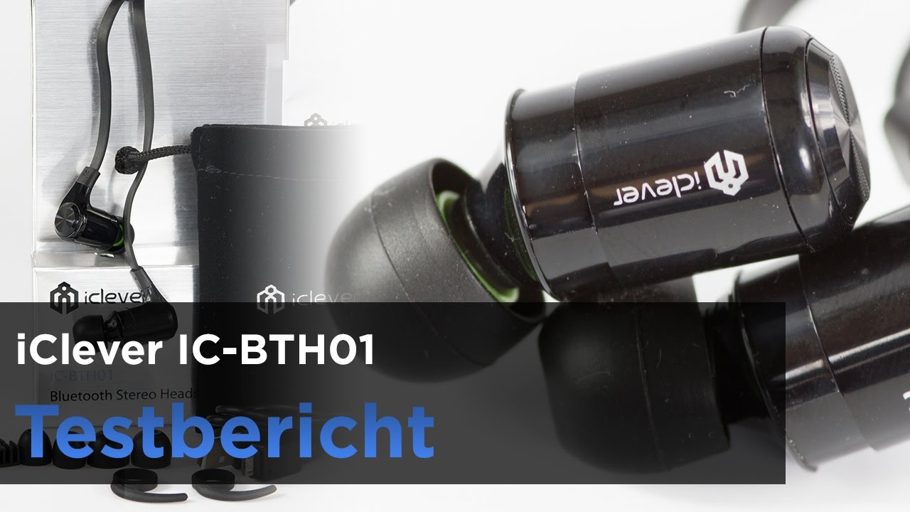 iClever IC-BTH01 im Test - In-Ear Kopfhörer mit Mikrofon, Bluetooth-Headset