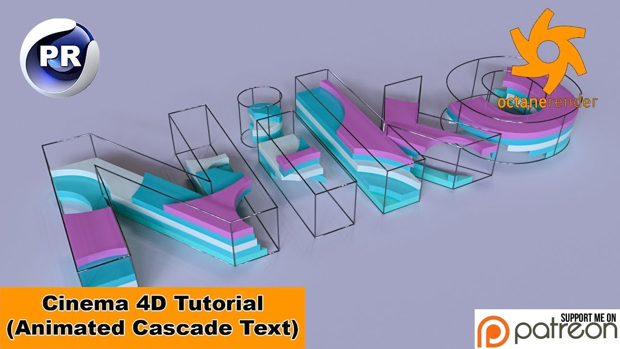 Animated Cascade Text (Cinema 4D Tutorial)