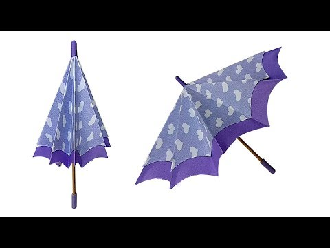 How to make a paper umbrella that open and closes || Easy To Make