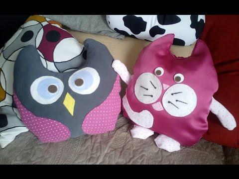 Подушка-игрушка (без шитья) легко и просто своими руками//   how to make this easy owl pillow.