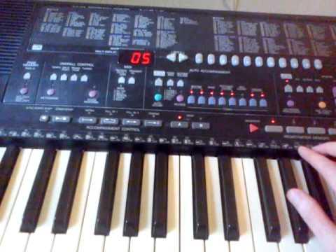 Cumbia del caribe yamaha psr 510 funnydog tv for Yamaha psr 410 keyboard