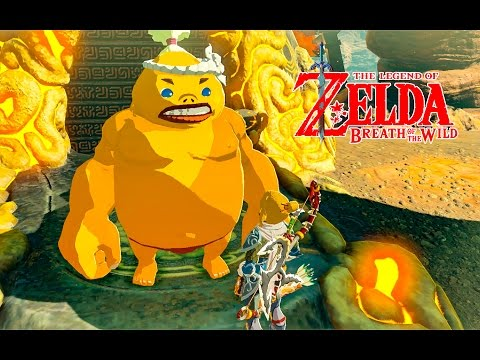 HOW TO DO THE GORON GUT CHECK CHALLENGE GORAE TORR SHRINE QUEST ZELDA BREATH OF THE WILD