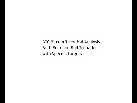 BTC Bitcoin Technical Analysis - Both Bear and Bull Scenarios with Specific Targets