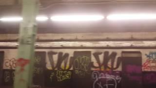 MTA Subway: R143 J Train Via Abandoned Bowery & Canal St Platforms