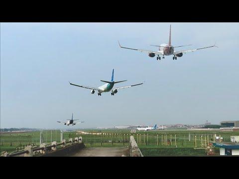 Landing Jakarta Lion Air, Nam Air,Sriwijaya Air, Citilink, Garuda Indonesia,Batik Air Dan Air Asia