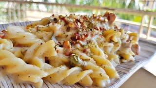क्रीमी चीज़ी पास्ता बनाने का आसान तरीका   Creamy Cheesy Pasta Recipe   My Kitchen My Dish