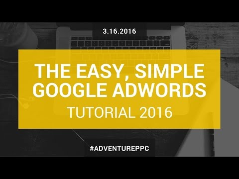 Complete Google AdWords Tutorial 2016: Go From Beginner To Advanced With This AdWords Course de YouTube · Duração:  1 hora 14 minutos 11 segundos
