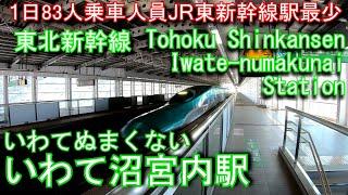 【新幹線秘境駅】東北新幹線 いわて沼宮内駅に登ってみた Iwate-numakunai Station. JR East Tohoku Shinkansen