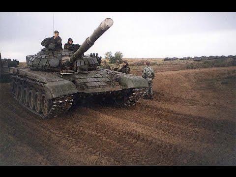 Танки Ополченцев едут в бой Луганск 13.07.2013