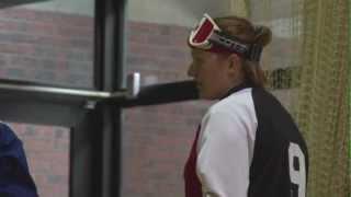 Préparation de l'équipe de goalball aux Jeux paralympiques 2012
