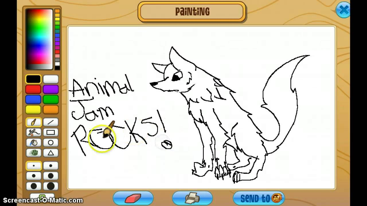 Animal Jam Drawing An Arctic Wolf!