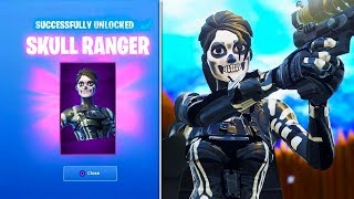 *NEW* Skull Ranger Skin GAMEPLAY! - Fortnite Battle Royale Skull Ranger! (Female Skull Trooper)