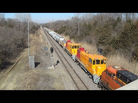 Crandic Switchers and Slug on BNSF Mixed Freight Train