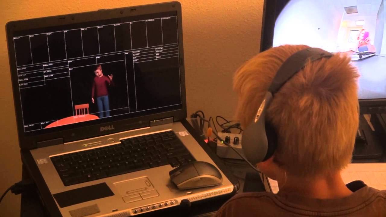 Interactive Live Animation Engages Autistic Child