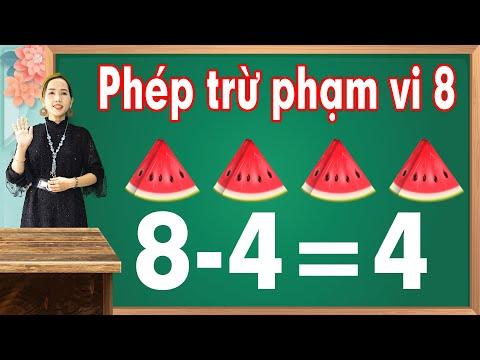 Phép trừ phạm vi 8 |Học toán lớp 1 - bài 5