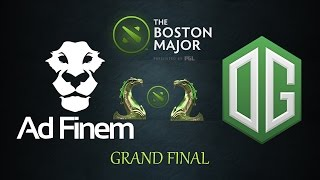 Dota 2: Grand Final Boston Major Ad Finem vs OG BEST GAME EVER