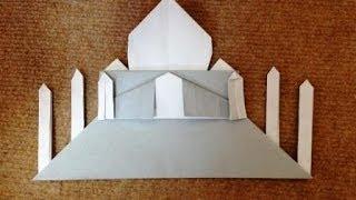 折り紙 タージマハル 折り方 作り方 how to make an Taj Mahal