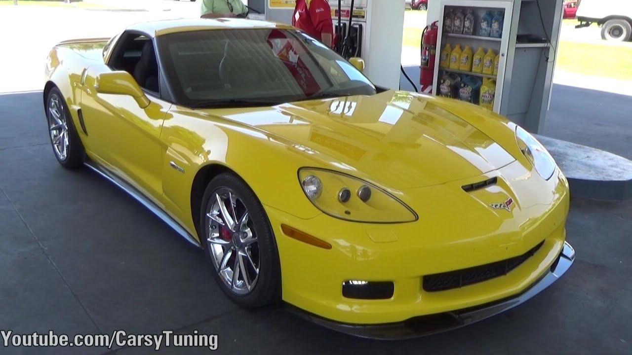 Yellow Chevrolet Corvette Z06 w/ Borla Exhaust - Start and Leave ...