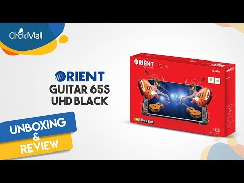 "Orient Guitar 65"" Smart UHD 4K LED TV Unboxing l Clickmall"