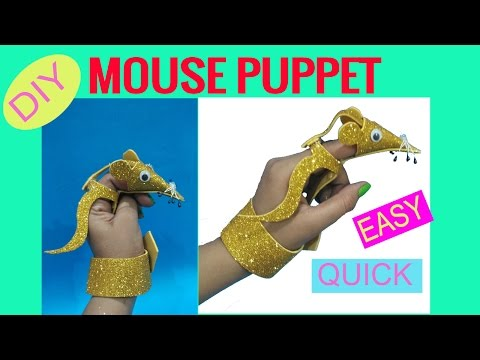 MOUSE finger puppet | prop for stories and rhymes | EASY FINGER PUPPET |  DIY FINGER  PUPPET