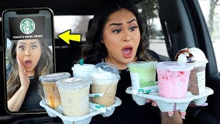 Letting the STARBUCKS FILTER choose my drinks ALL DAY! *OMG*
