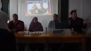 لا للعنف لا للإرهاب .. مع طلاب مدرسة ميت غزال الثانوية
