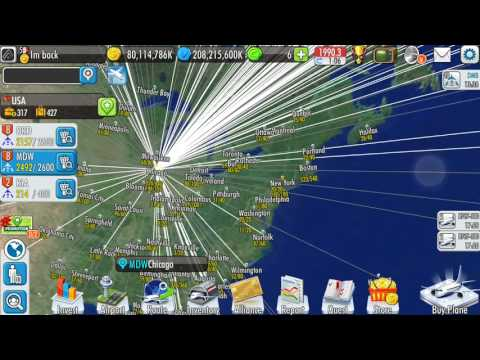 Lets Play Air Tycoon Online 2 (7) Real life airlines vs Ato